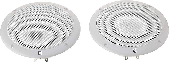 PolyPlanar 4 2 Way Coax Integral Grill Marine Speaker Pair White