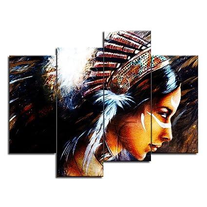 amazon com viivei native american indian girl woman man wall art