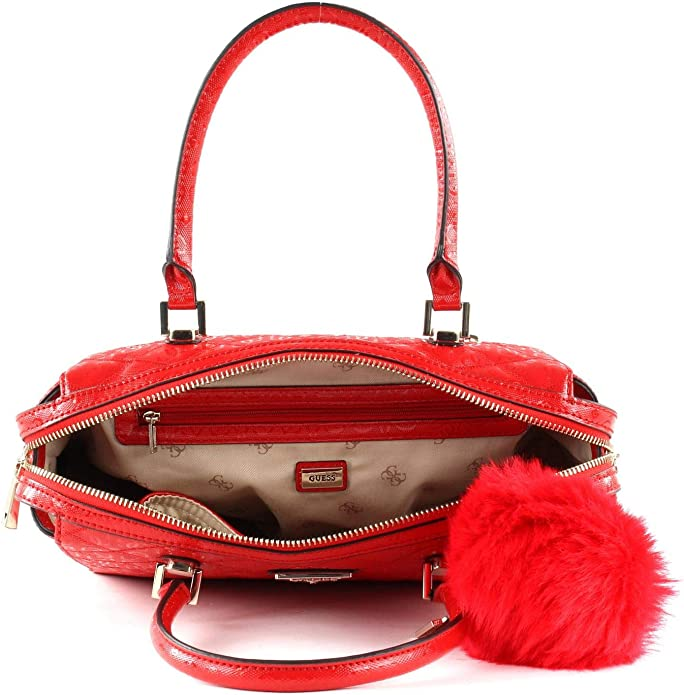 GUESS Astrid Box Satchel Handtasche Schultertasche Tasche Red Rot