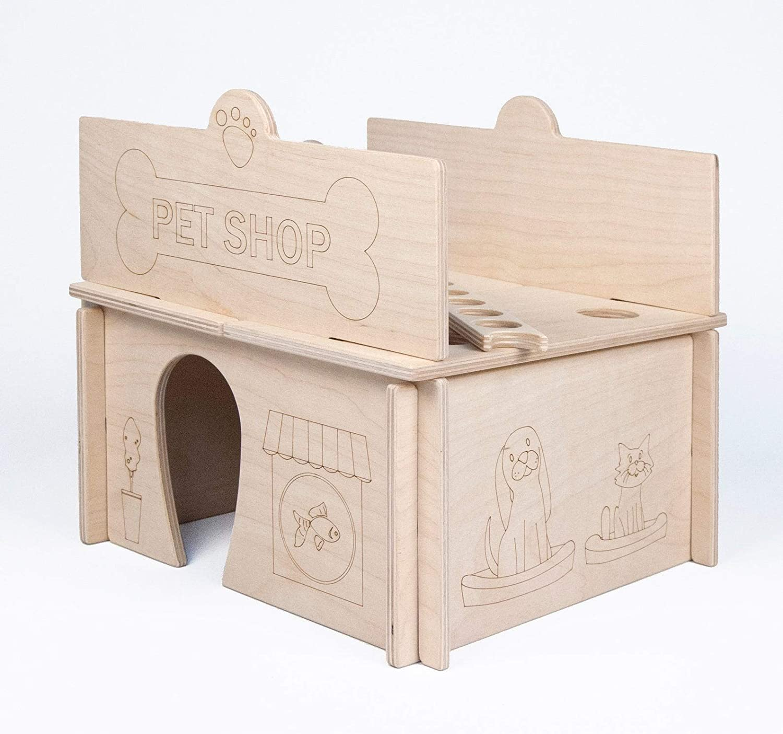 Mod-Town Modular Pet Shop Modern Wood Building Toy