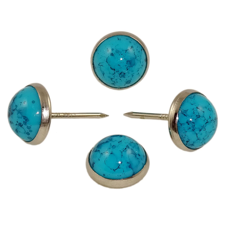 Decotacks 7//16 Marble Design Upholstery Nails 25 PCS//PACK DWM Sofa Tacks Turquoise