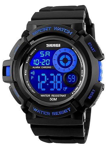 Relojes Deportivos Digitales para Hombre, Reloj cronógrafo Militar a Prueba de Agua a 50 Metros