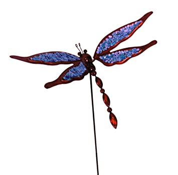 east2eden blau metall libelle garten wind ornament mit blattern spring flugel 4 farben