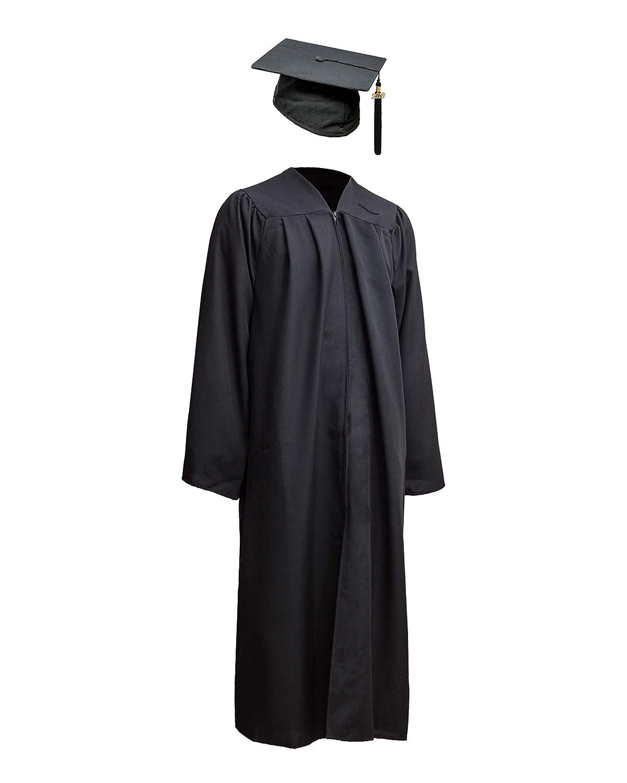 180 cm Robe Academicus Set completo: abito accademico da fibra funzionale Cappello da laureato con nappina e numero dellanno corrente XL
