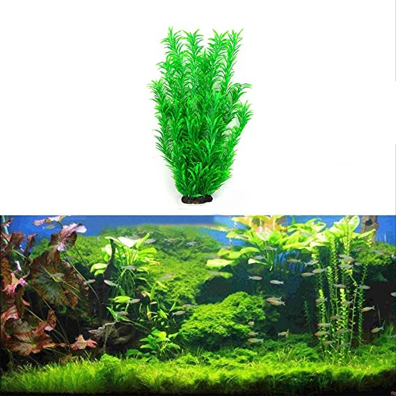 Red Zerodis Piante acquatiche Artificiali per acquari Decorazioni per Piante in Acquario in Resina plastica per Piante acquatiche di Felce Ultra realistiche per Acquario