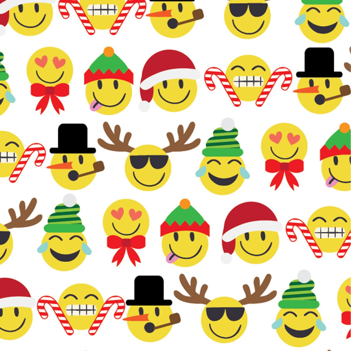 JILLSON Roberts 12 Zählen Weihnachten flach Geschenkpapier, Emoji ...