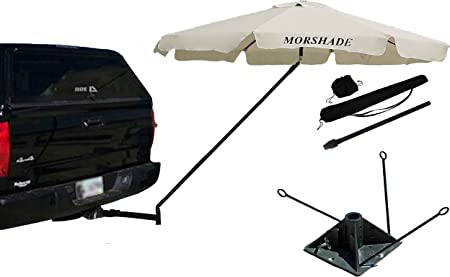 Tailgating And Outdoor Events Great For Traveling 51958 Camco Durable Hitch Mount Umbrella Holder Sturdily Supports