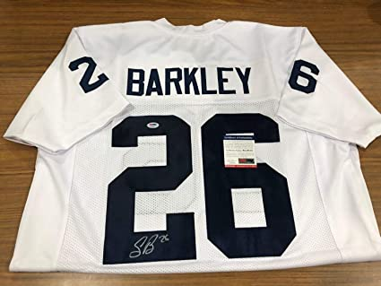 sports shoes aaf4d df621 Saquon Barkley Autographed Signed Penn State Jersey Auto PSA ...