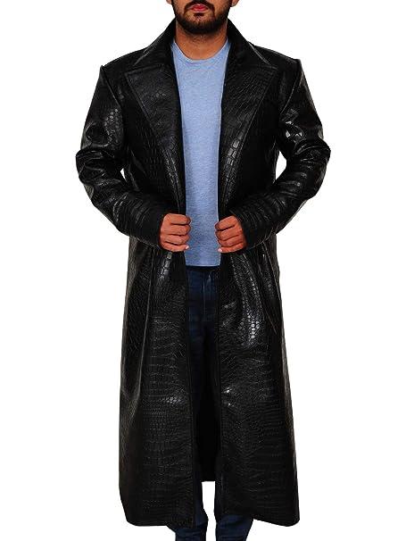 Amazon.com: TrendHoop - Abrigo de piel de cocodrilo para ...