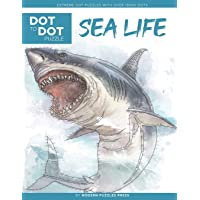 Sea Life - Dot to Dot Puzzle (Extreme Dot Puzzles with over 15000 dots): Extreme Dot to Dot Books for Adults by Modern…