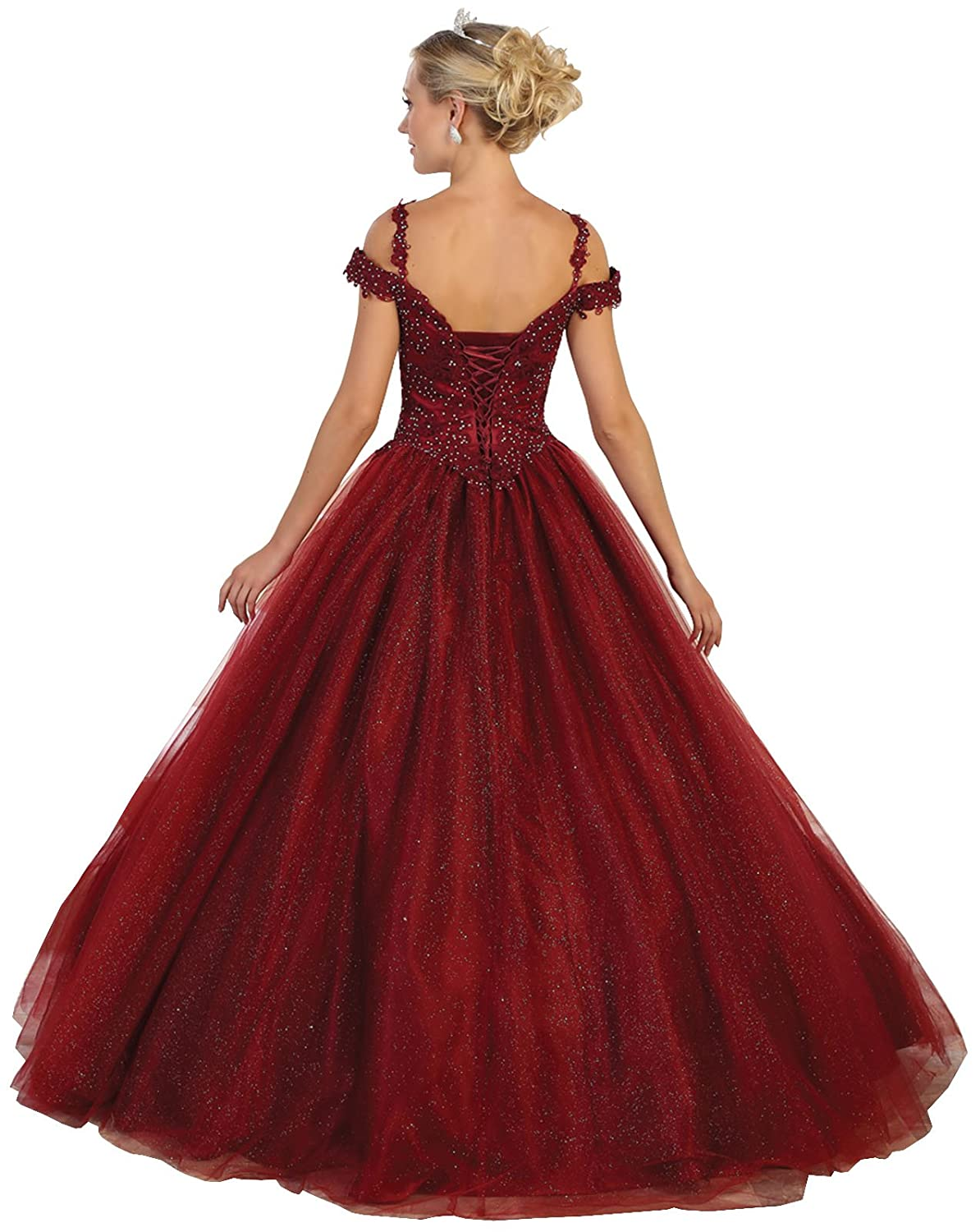 455ddd7f8fe Layla K LK101 Sweet 16 Formal Quinceanera Gown at Amazon Women s Clothing  store