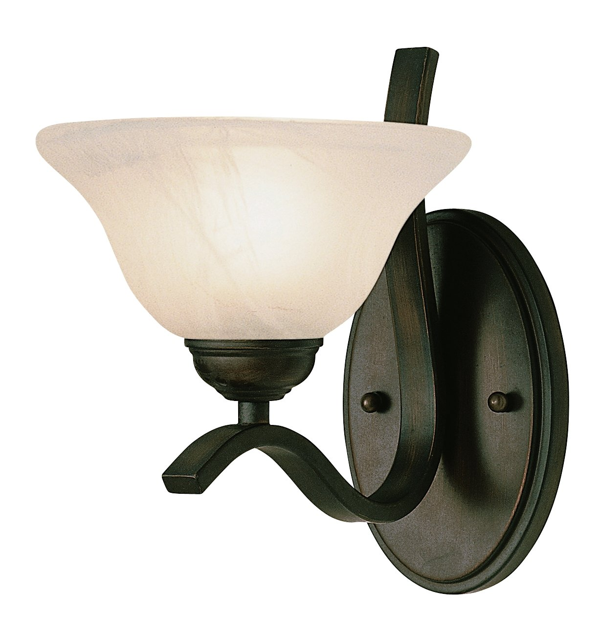 Trans Globe Lighting 2825 ROB Indoor  Hollyslope 7.5'' Wall Sconce, Rubbed Oil Bronze by Trans Glob Lighting (Image #1)