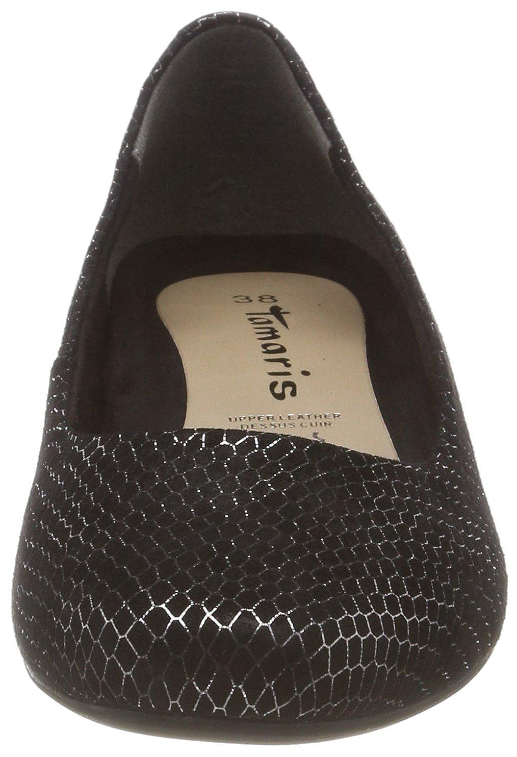 Tamaris Damen 22202 Geschlossene Struct. Ballerinas Schwarz (schwarz Struct. Geschlossene 006) 20c9b1