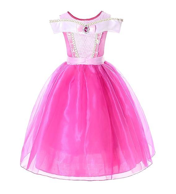 Amazon.com: JerrisApparel Disfraz de princesa Aurora para ...