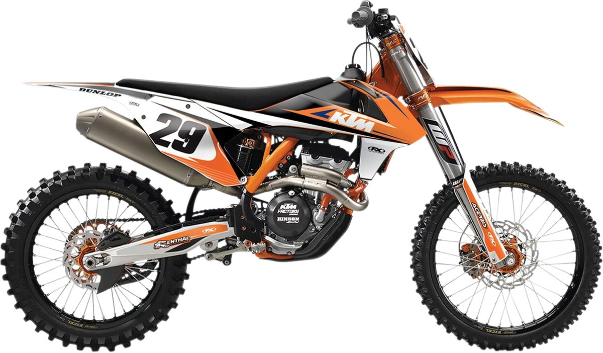 13-16 KTM 250SX: Factory Effex EVO 14 Shroud Graphic Kit - KTM (ONE COLOR)