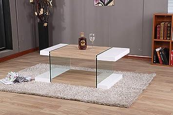Modernique Intero Coffee Table Unique Design Oak White Living Room