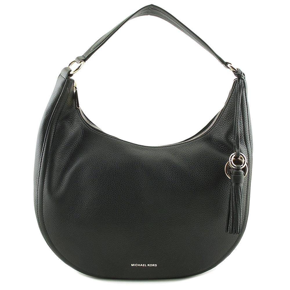 MICHAEL Michael Kors Women's Medium Lydia Hobo Bag, Black, One Size
