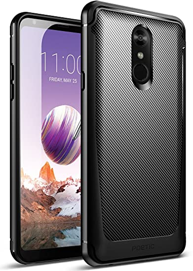 low priced e9f95 7638b LG Stylo 4 Case, LG Stylo 4 Plus Case, Poetic Karbon Shield [Shock  Absorbing][Carbon Fiber Texture] Slim Fit Fixable TPU Case for LG Stylo 4  Plus/LG ...