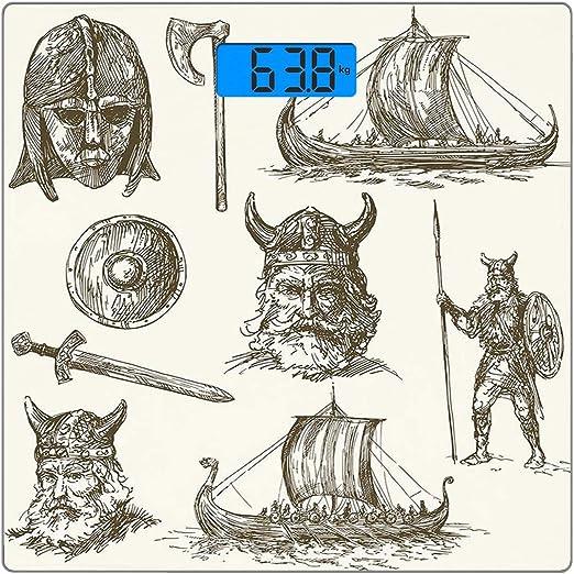 Escala digital de peso corporal de precisión Square Vikingo ...