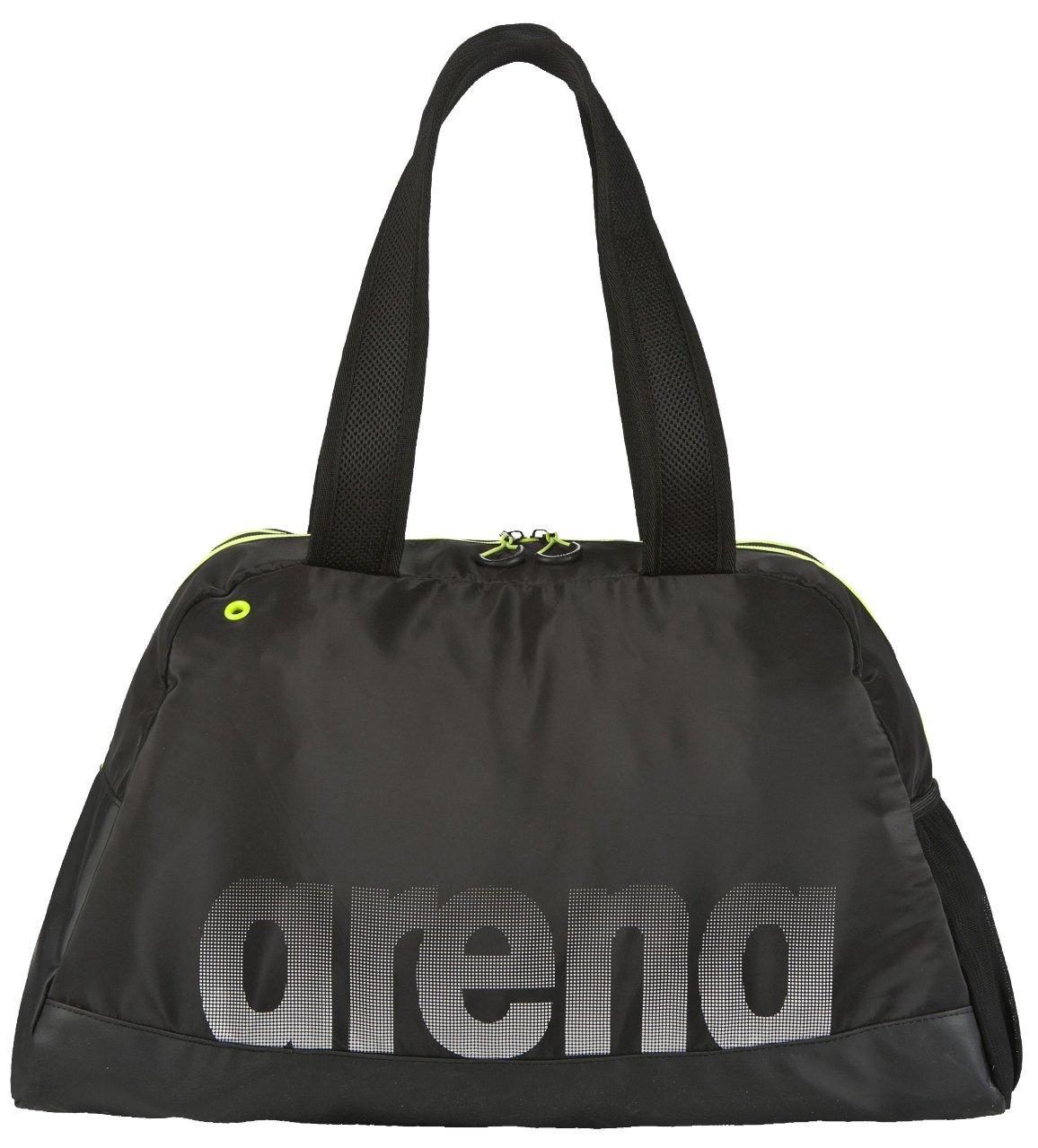arena Damen Sporttasche Fast Woman (Geräumig, Wasserabweisend, Schnelltrocknend, 50x24x32cm), Black-Yellow (503), One Size AENA5|#Arena 26