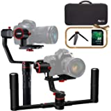FeiyuTech a2000 3-Axis DSLR Camera Gimbal, Dual Handheld KIT, Upgrade Version, Payload Upgrade to 250-2500g, Compatible with Nikon/Sony/Canon Series Camera and Lens, with Case & 32 GB SD Card