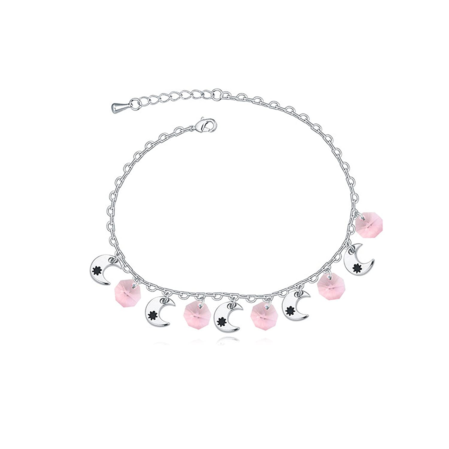 Aganippe Adjustable Crystal Charm Beach Anklet Bracelet for girls