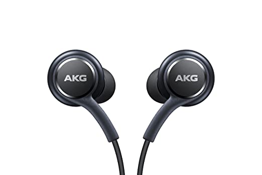 Samsung Earphones Corded Tuned by AKG (Galaxy S8 and S8+ Inbox replacement), GREY Mobile Phone Wired Headsets at amazon