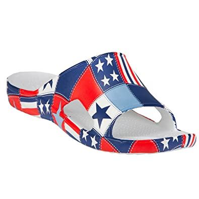 e4277cb2fbe0 Dawgs Men s Loudmouth Slides Betsy Ross Size 8