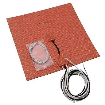 Calentador de silicona de 12 V 200 W con termistor integrado de 50 ...
