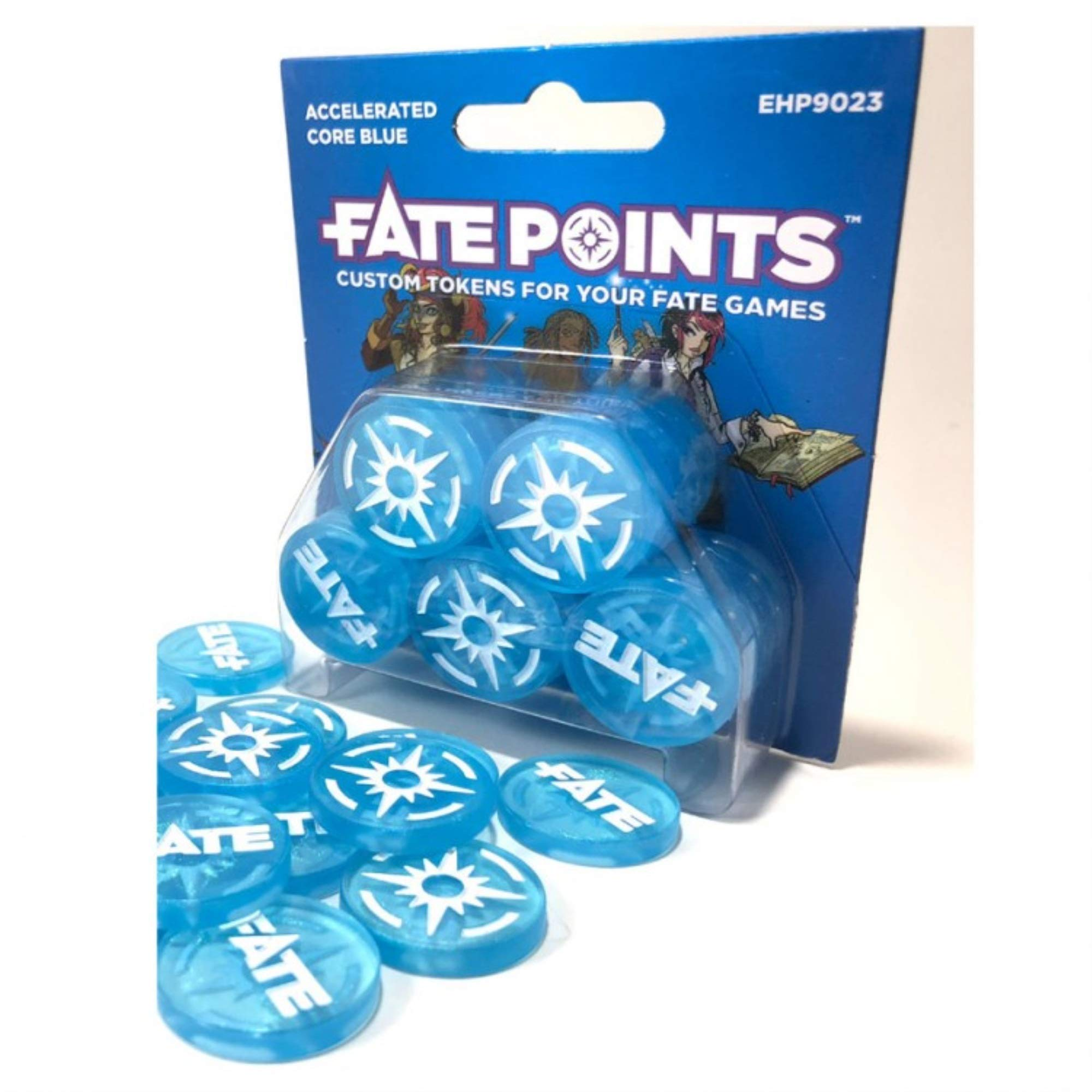 Evil Hat Productions EHP09023 Fate Points: Accelerated Core Blue, Multicoloured