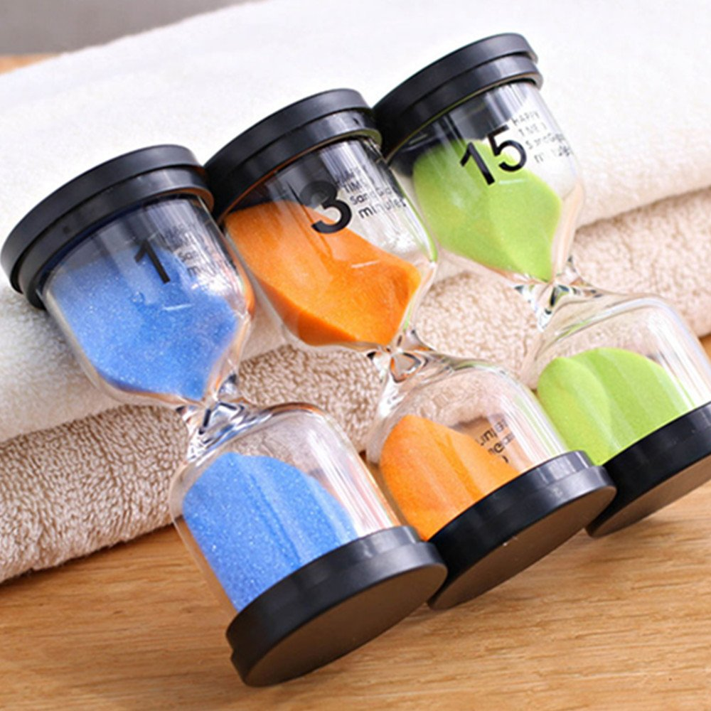 Gosear Hourglasses, Sand Timer 6pcs Hourglass Sand Clock Timer Sandglass 1 3 5 10 15 30mins for Classroom Game Home Office Decoration Random Colors. by Gosear (Image #2)
