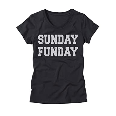 Amazon.com: Womens Sunday Funday Shirt - Ladies Funny Drinking T ...
