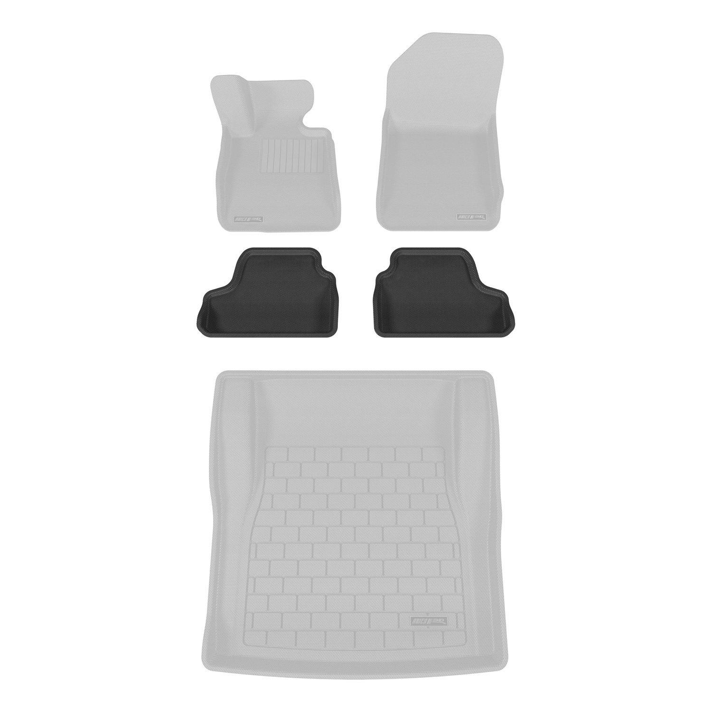 2 Piece Aries BM02421509 Black Rear 3D Floor Liner