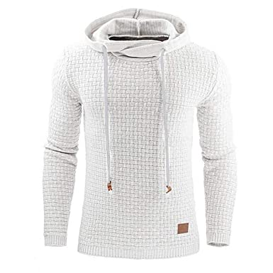 Bestbewertete Mode angemessener Preis zur Freigabe auswählen Langarm Einfarbig Mit Kapuze Herren Pullover Trainingsanzug ...