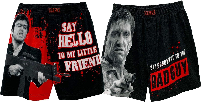 Scarface Tony Montana Men's Pajama Pants Loungewear - Boxer Shorts and Pants 2 Pieces Sets
