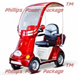 """E-Wheels - EW-54 Heavy Duty Bariatric Scooter - 4-Wheel - 18""""W x 18""""D - Red - PHILLIPS POWER PACKAGE TM - TO $500 VALUE"""