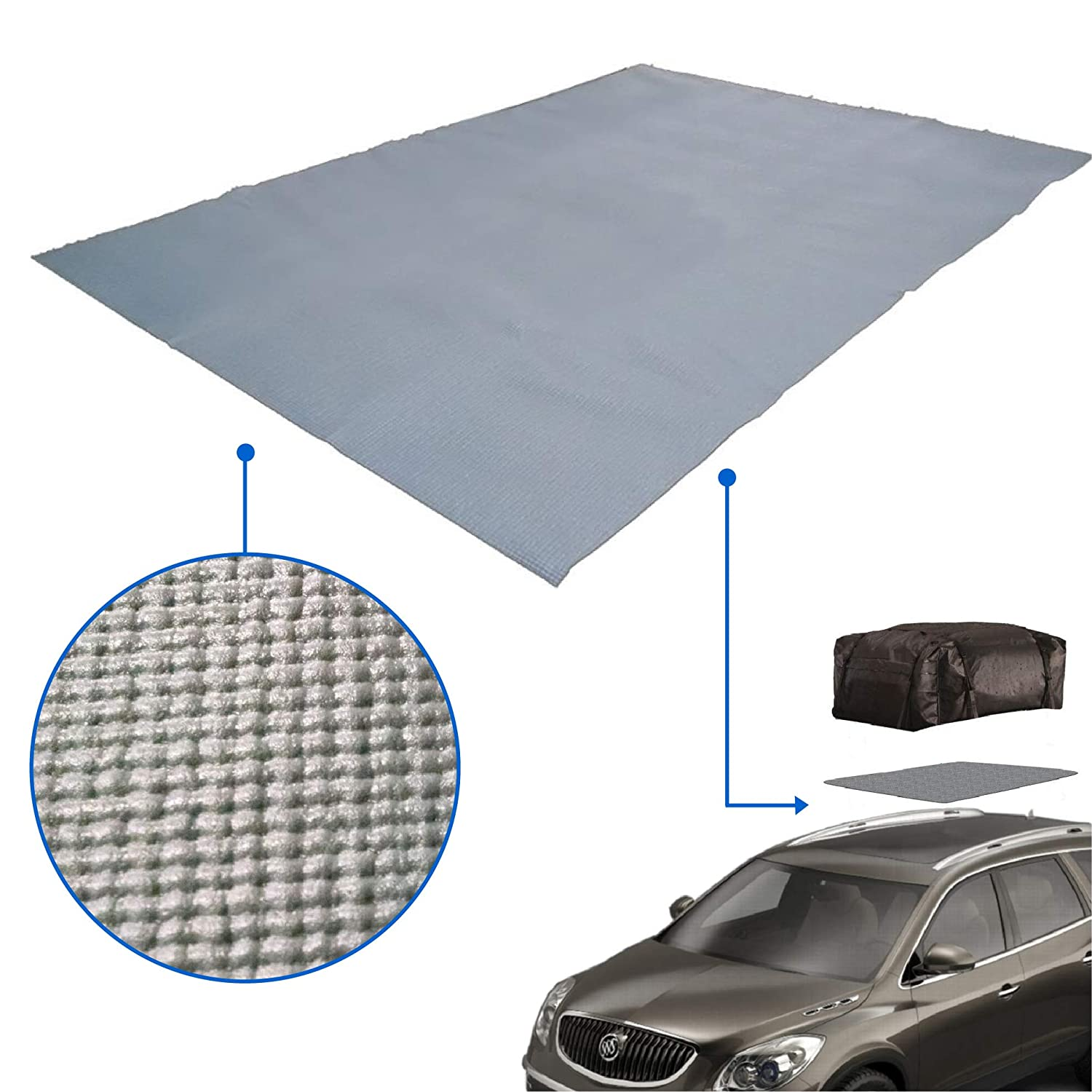 EasyGoProducts egp-aut-001 Cargo Bag Mat Padded to Protect car Storage and Roof Racks