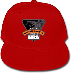 NQMIVNSK NRA Range Safety Officer Baseball Cap Classic Adjustable Flat Snapback Hip Pop Dad Trucker Hat for Boys Girls