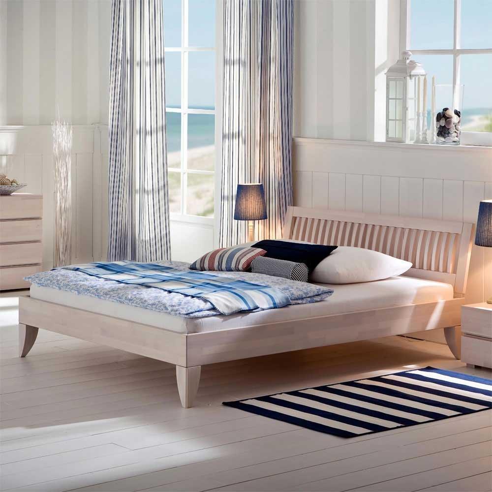 Doppelbett Betten Buche weiss Anke Ausführung 2 Pharao24