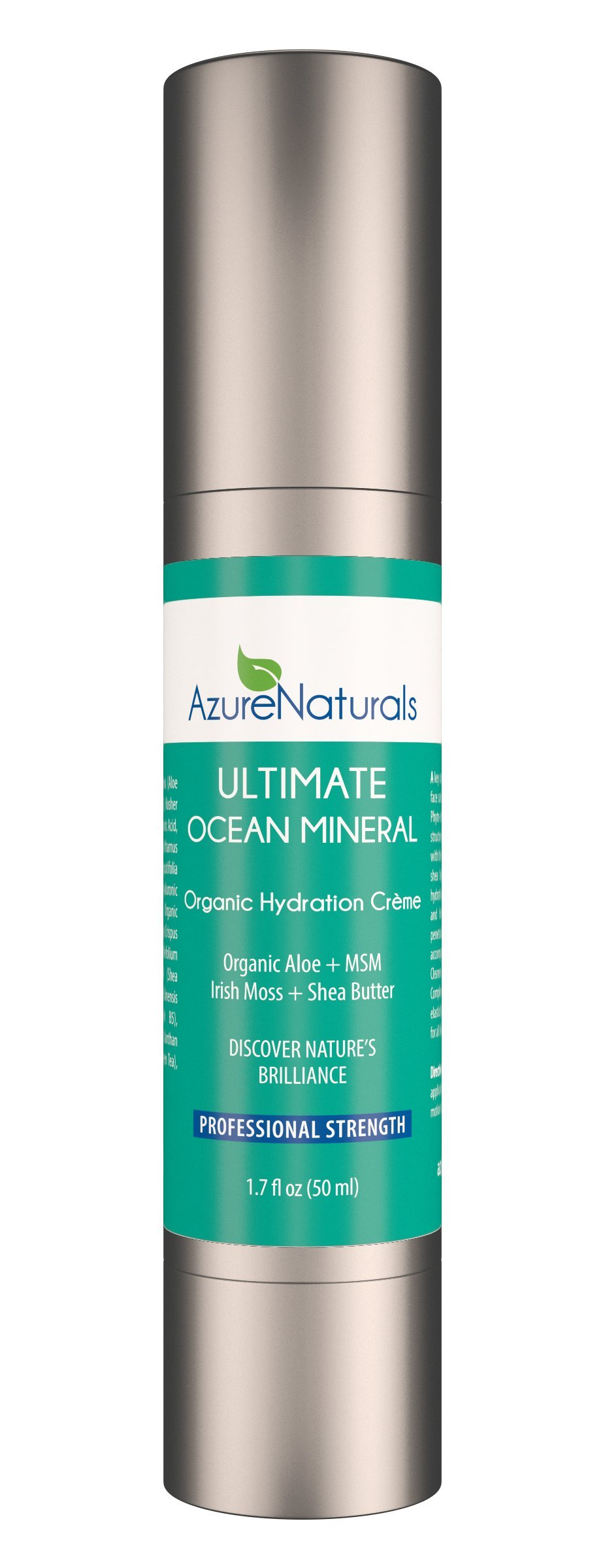 ULTIMATE OCEAN Mineral Hydration Creme Anti Aging Facial Moisturizer, 90+ Ocean Minerals, Blue Green Algae + Irish Moss + Hyaluronic Acid Will Repair, Rejuvenate, Deeply Hydrate Your Skin!