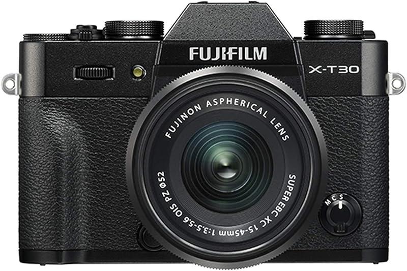 Fujifilm X-T30 Mirrorless Digital Camera w/XC15-45mm Kit - Black