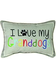 """PILLOWS GIFTS FOR DOG LOVERS /""""I LOVE MY GRANDDOGS/"""" THROW PILLOW"""