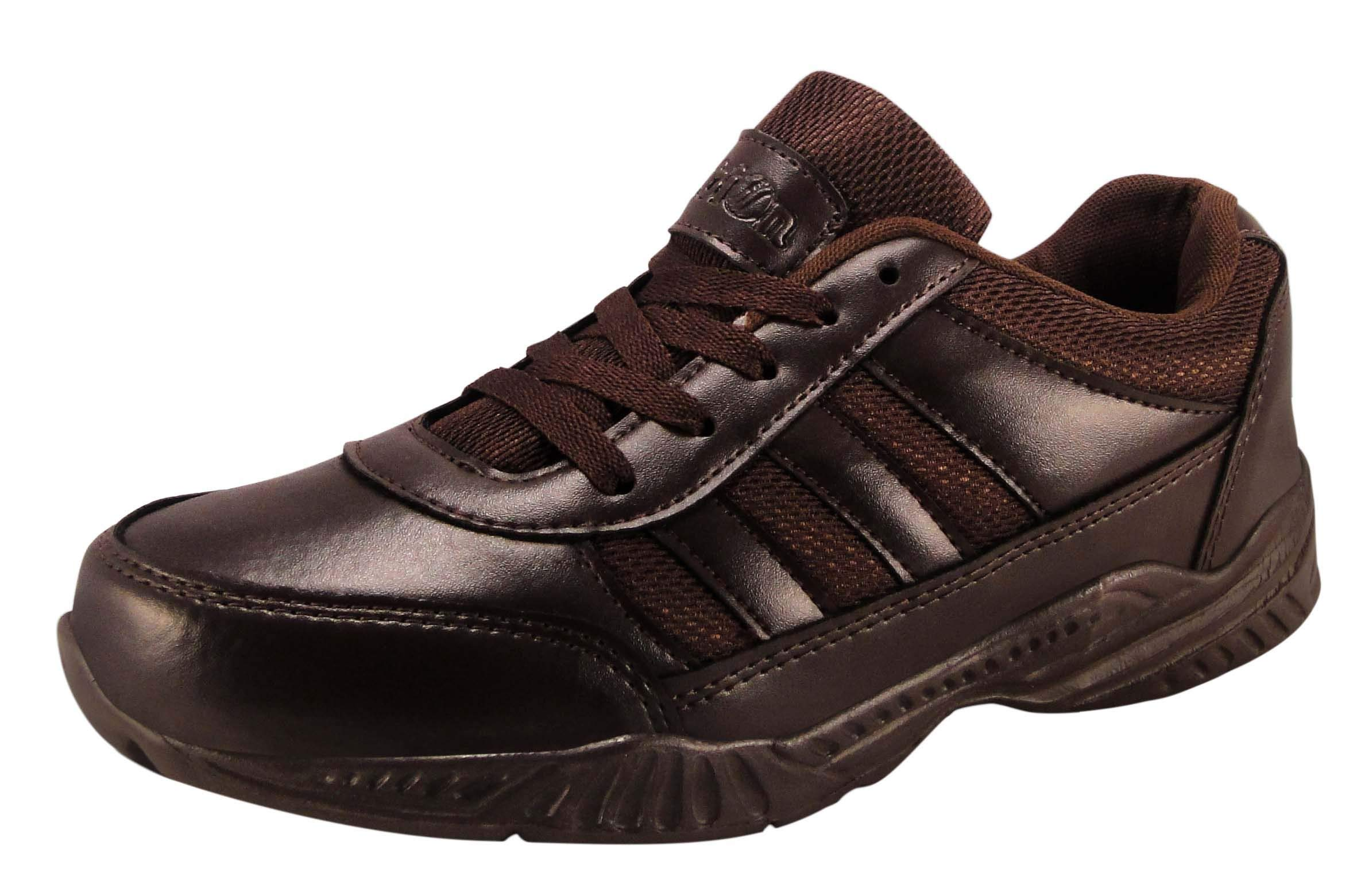 Action Shoes Synergy Men's Mesh and Pu Black Sport Running Shoes (UK/India 6) product image
