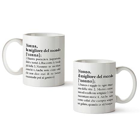 Set 2 Tazze Con Stampa Definizioni Nonna E Nonno Divertenti