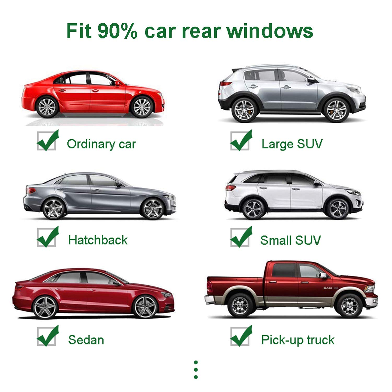 Tusenpy 2 pezzi tendine parasole per auto,universale tendine sole auto,coperture finestra laterale posteriore protezione raggi UV//abbagliamento per bambini adulti animali