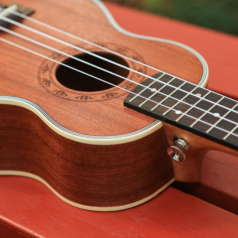 Meideal Ukulele Soprano Ukulele Acoustic 21 inch Ukulele Sapele Wood Professional Ukulele Best Gift for Beginner and Experienced Musicians