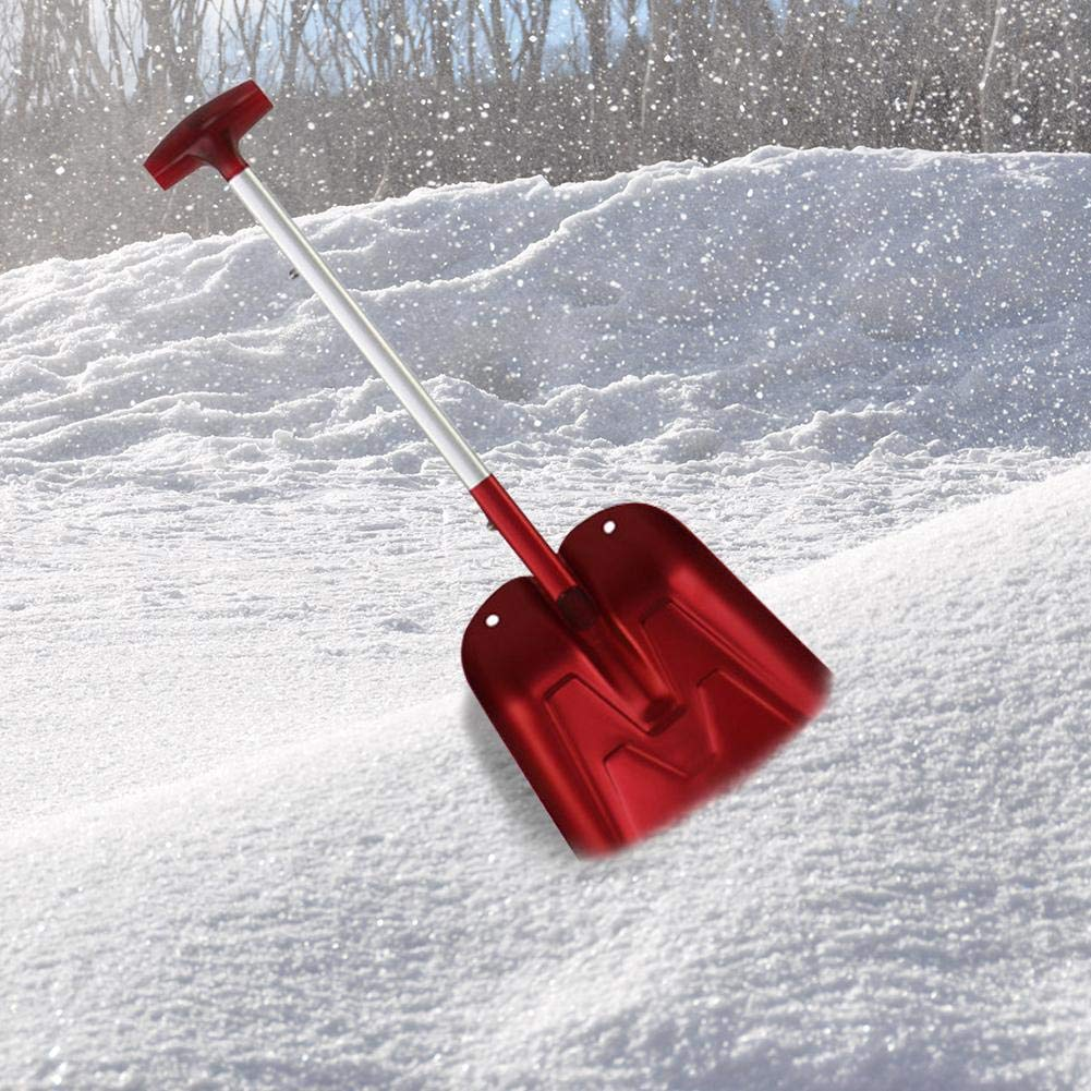 Portable Aluminum Snow Telescopic Shovel Adjustable Snow Removal Shovel for Car Trunk and Household Courtyard by Topaty (Image #6)