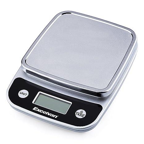 "Excelvan CK772 - Balanza Báscula Digital de Cocina hasta 5Kg 11lb (2"" Pantalla LCD"