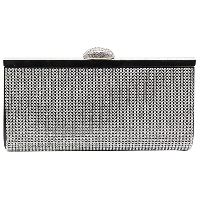 Ladies Encrusted Clutch Bags Women/'s Satin Wedding Evening Prom Party Purse UK