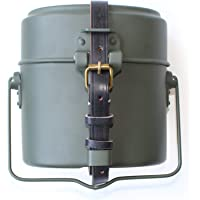 WWII WW2 Collectibles German M31 Mess Tin with Leather Strap Dinner Box